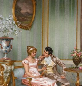 Admiration painting by Vittorio Reggianini not PD