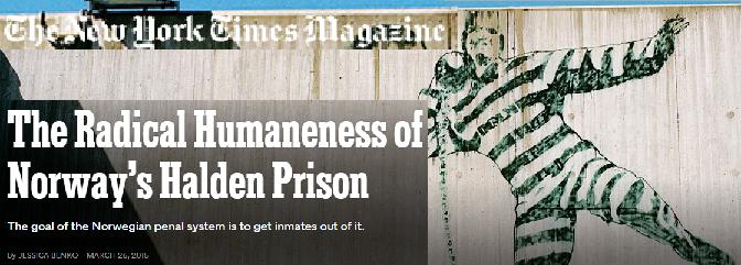 New York Times Magazine - Norway Prison