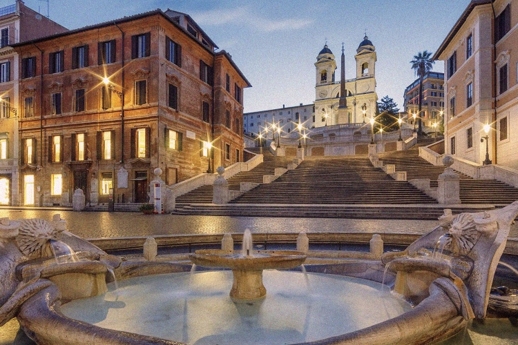 Rome Night Tour with Traditional Dinner