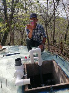 Installing chlorinators in El Sauce