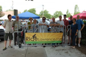 Bike Rack at the Lawrence Farmer's Marker
