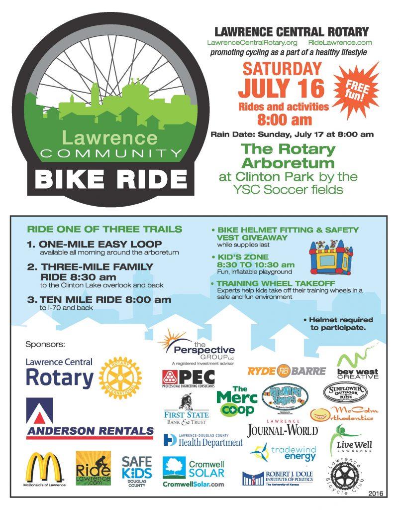 Lawrence Communtiy Bike Ride Summer 2016