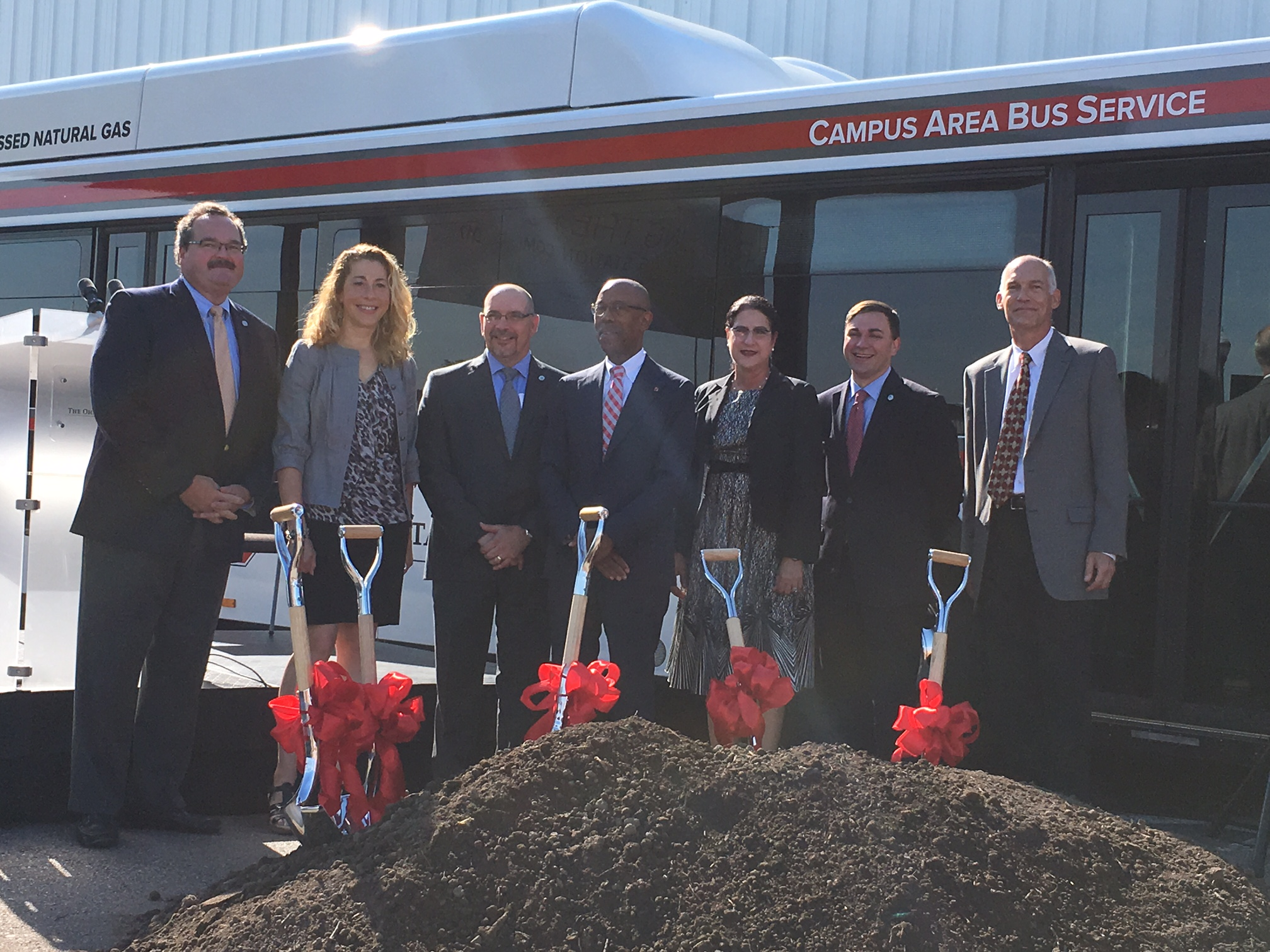 The Ohio State University breaks ground on CNG fueling station
