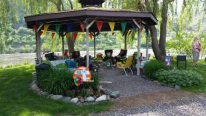 Gazebo at Swiftwater RV Park in White Bird Idaho