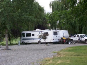 Photo of a motorhome parked at Swiftwater RV Park
