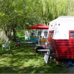 Camping in groups at Swiftwater RV Park on the Salmon River in Idaho