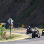 ATV riders leaving Swiftwater