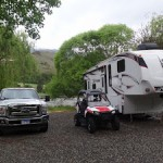 5th Wheel, ATV and truck at Swiftwater