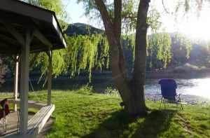 Salmon River by Swiftwater RV Park in Idaho