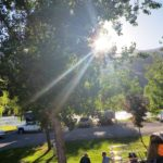 Summer Sunlight on the Salmon River at Swiftwater RV Park