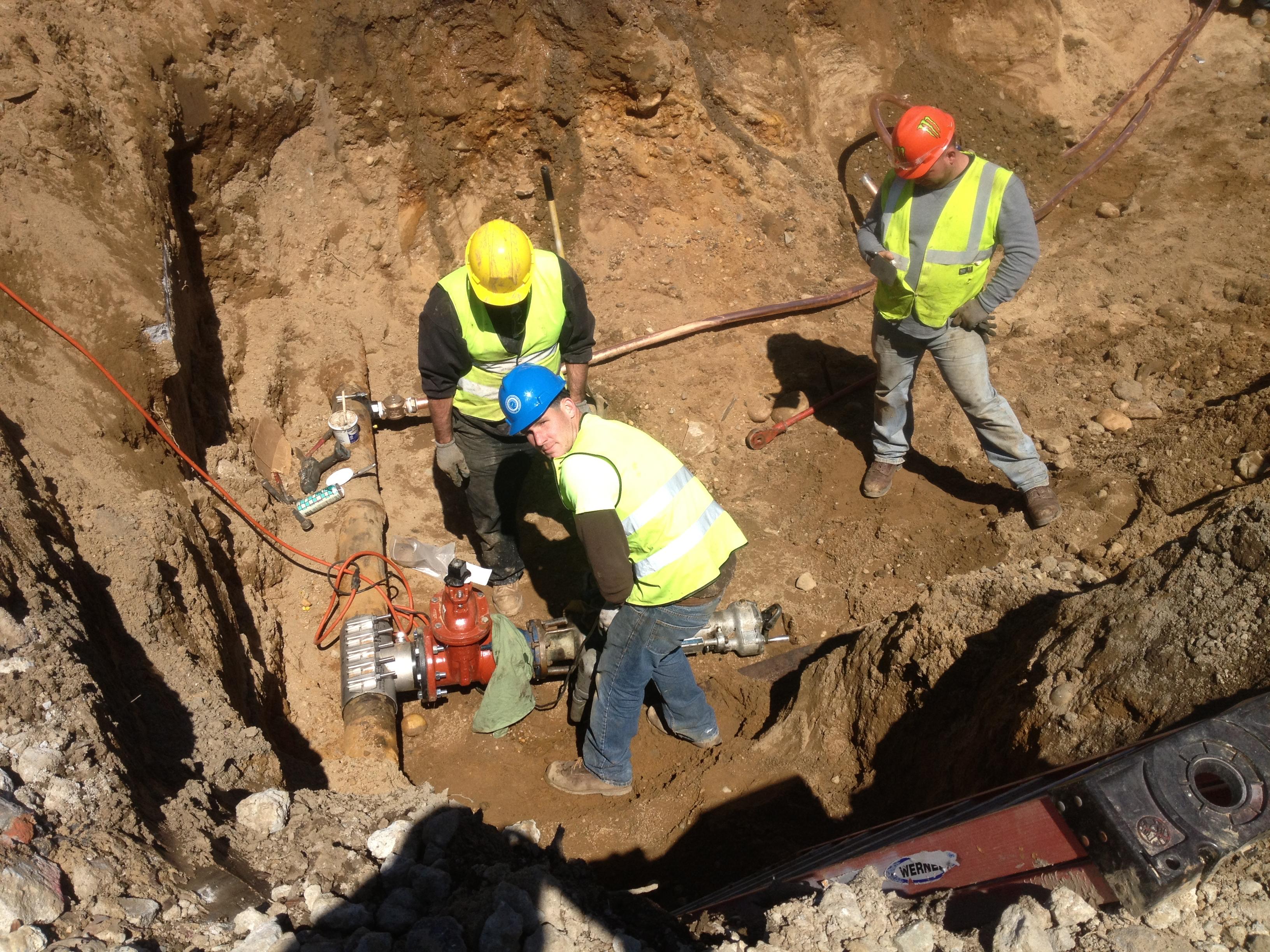 Commercial Water Main Repair Stony Brook College