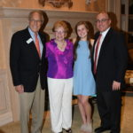 Hank and Ellen Baer with granddaughter, Catie and son, Hank Jr. at the Benefactor Party.
