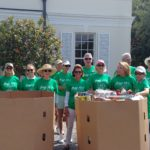 Resident volunteers in group photo for Food Drive.