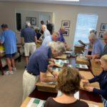 Volunteers assembling bags