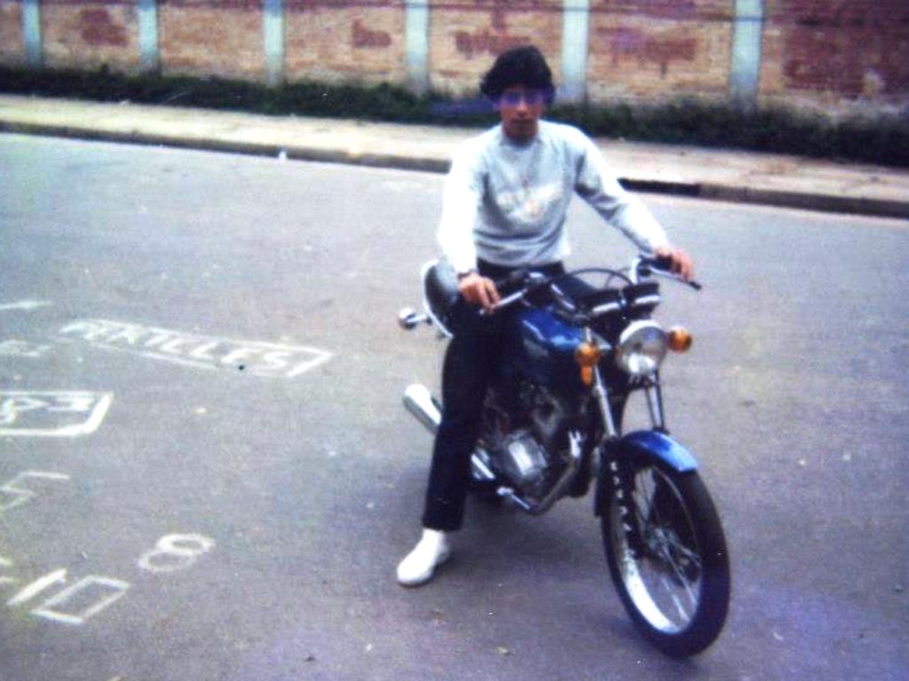 Marcelo abelha e sua Honda Turuna. Foto: Acervo Pessoal