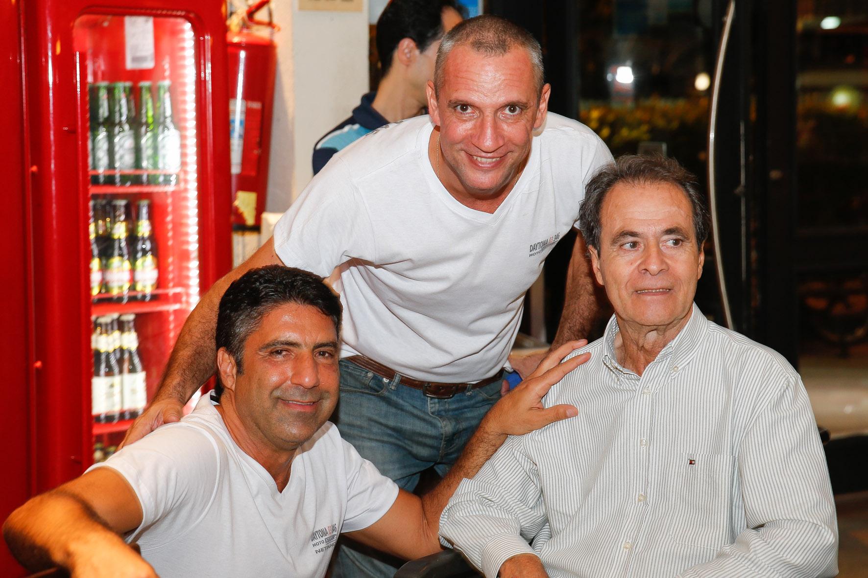 04/02/2015 - 1o Encontro Motostory: Daytona 83 349 - Antonio Jorge Neto (Netinho), Carlãozinho e Milton Benite - Foto: Haroldo Nogueira / Motostory