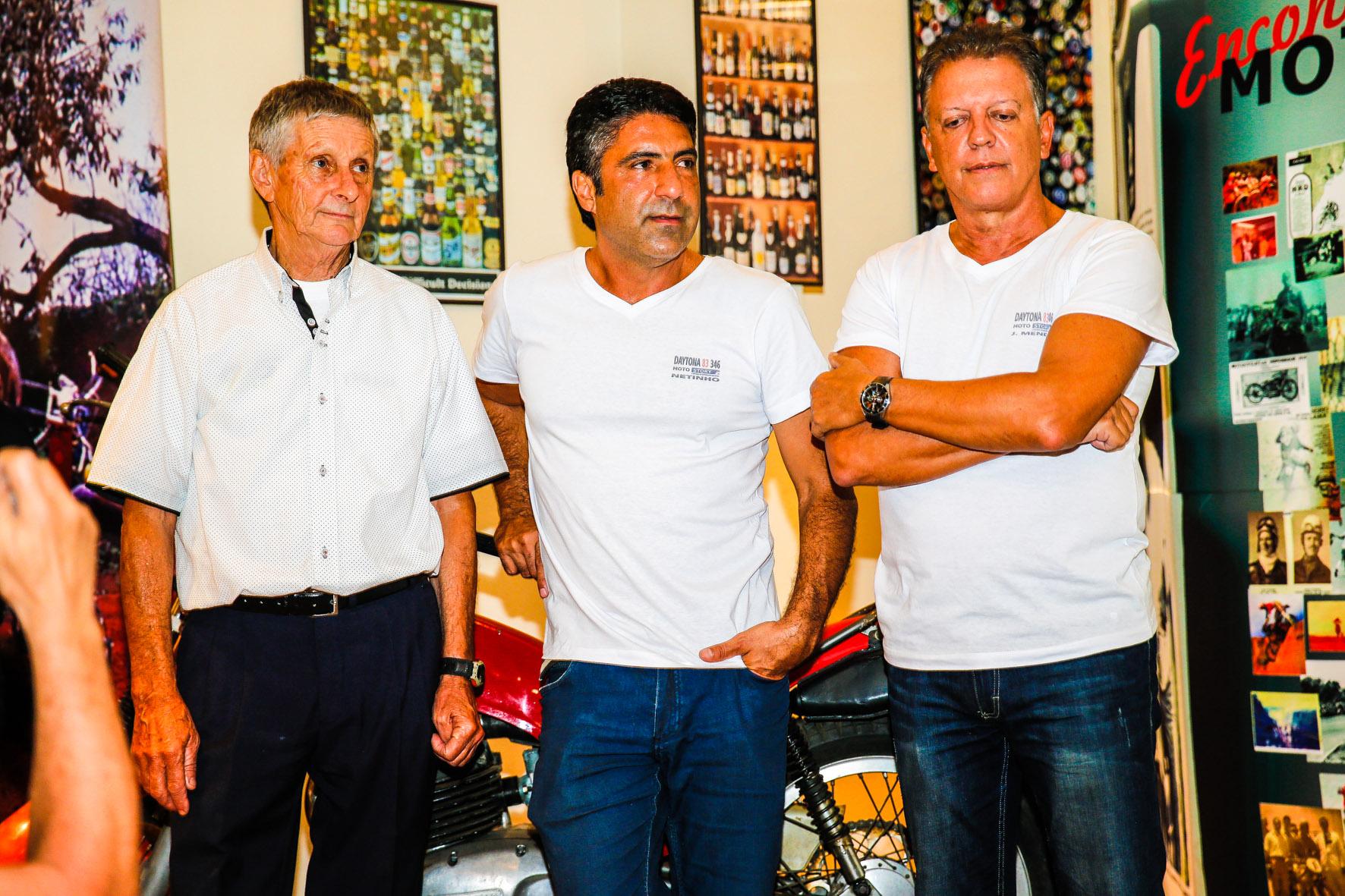 04/02/2015 - 1o Encontro Motostory: Daytona 83 349 - Jacinto Sarachú, Netinho, João Mendes - Foto: Haroldo Nogueira / Motostory
