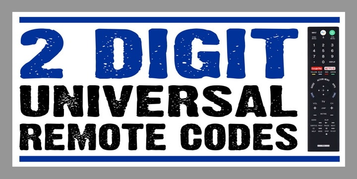 2 digit remote codes