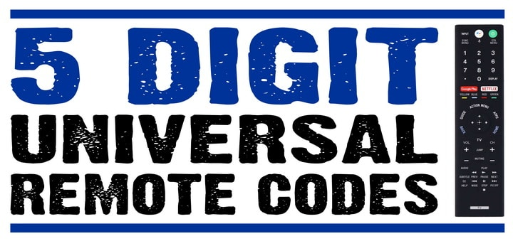 5 digit tv remote codes