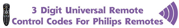 UNIVERSAL-REMOTE codes for philips remotes