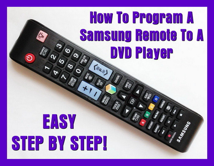 How To Program A Samsung Remote To A DVD Player