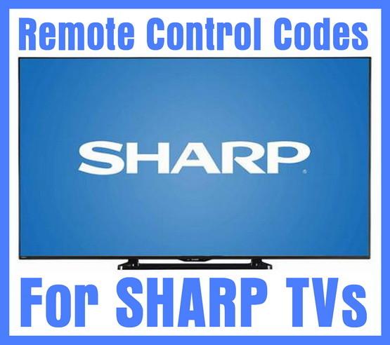 Sharp TV remote control codes
