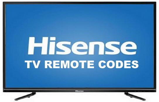 hisense tv remote codes