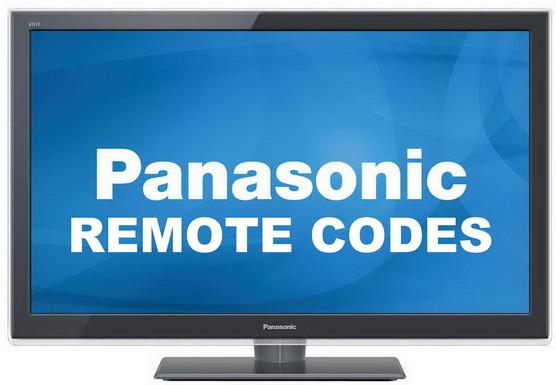 panasonic remote codes