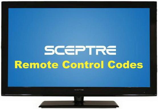 sceptre tv remote codes