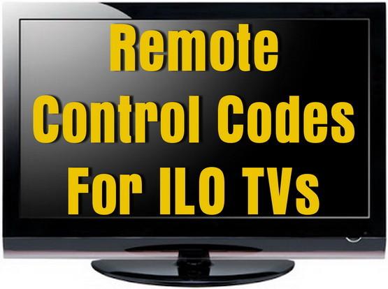 ILO TV Remote Codes