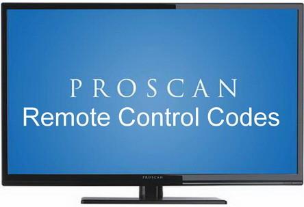 Proscan TV remote codes