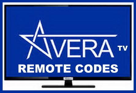 Remote Control Codes For Avera TVs