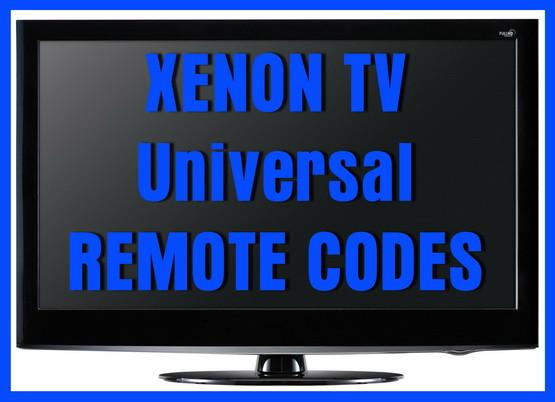 XENON TV universal remote codes