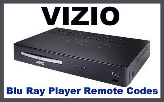 Vizio blu ray player remote codes