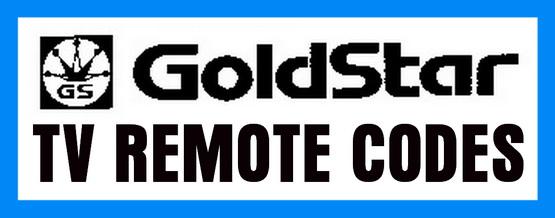 Goldstar TV remote codes