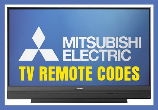 Mitsubishi TV Remote Codes
