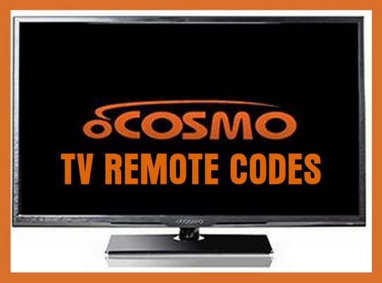 oCosmo TV remote codes