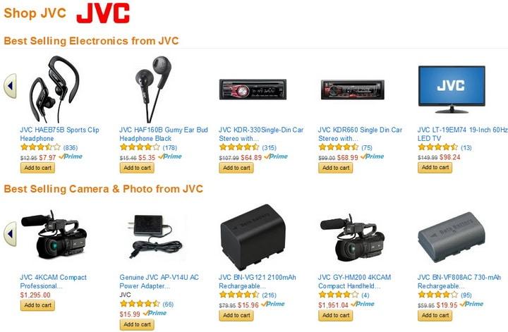 JVC best selling electronics