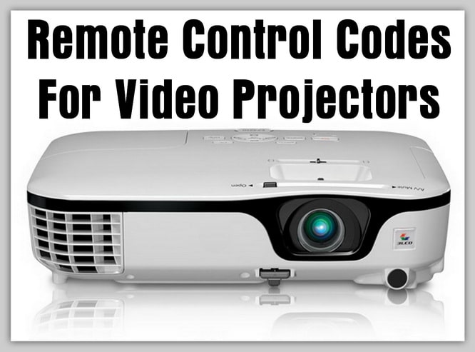 Remote Codes For Video Projectors
