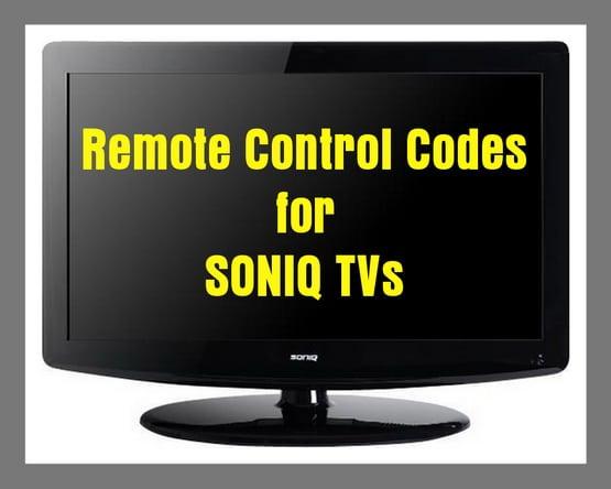 Soniq TV Remote Codes