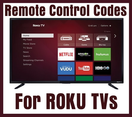 Remote Control Codes For ROKU TVs