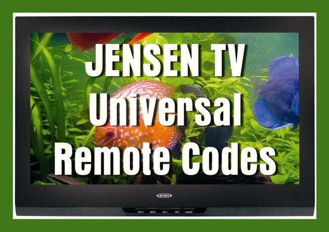 Jensen TV Universal Remote Codes