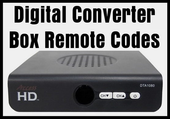 Remote Codes For Digital Converter Box