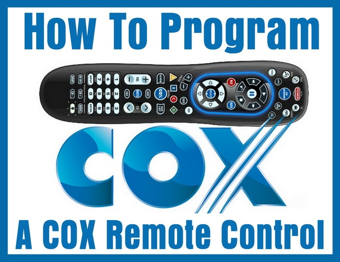 COX Remote Control Codes - How TO Program remote