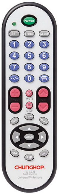 Chunghop remote Q-X33E TV Remote Controller