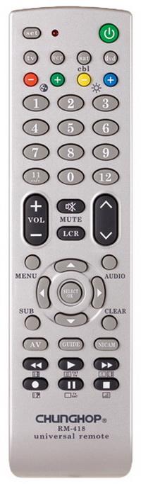Chunghop universal remote RM418