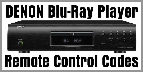 Denon Blu-Ray Player Remote Codes