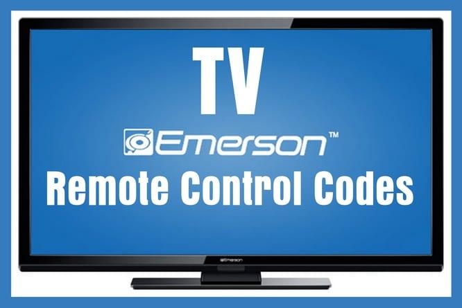 Emerson TVs - Remote Control Codes