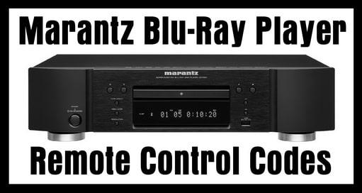 Marantz Blu-Ray Player Remote Codes