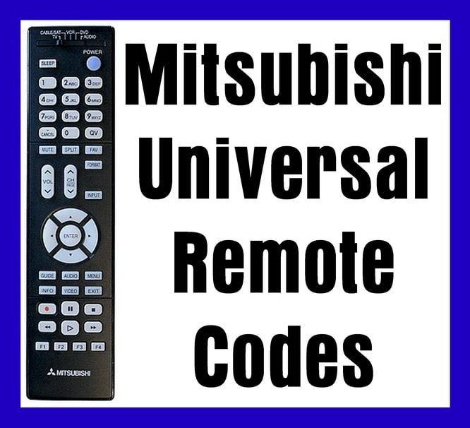 Mitsubishi Universal Remote codes